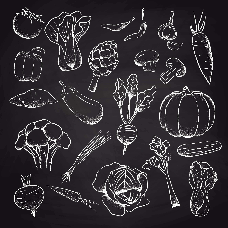 Fotografia de alimentos dentro del grupo de las verduras y hortalizas