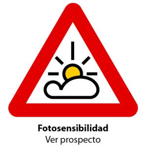 Simbolo del envase de medicamentos fotosensible