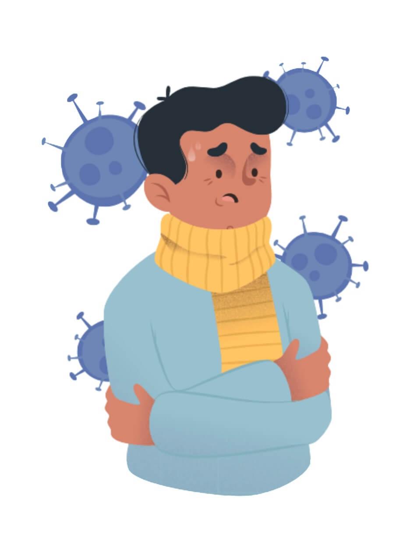 Persona contagiada por coronavirus
