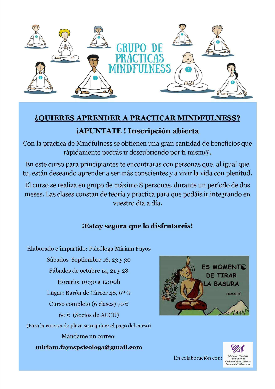 Curso Mindfulness ACCU Valencia
