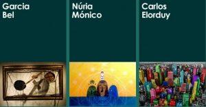 Obras de los artistas del acto solidario para la investigación en EII