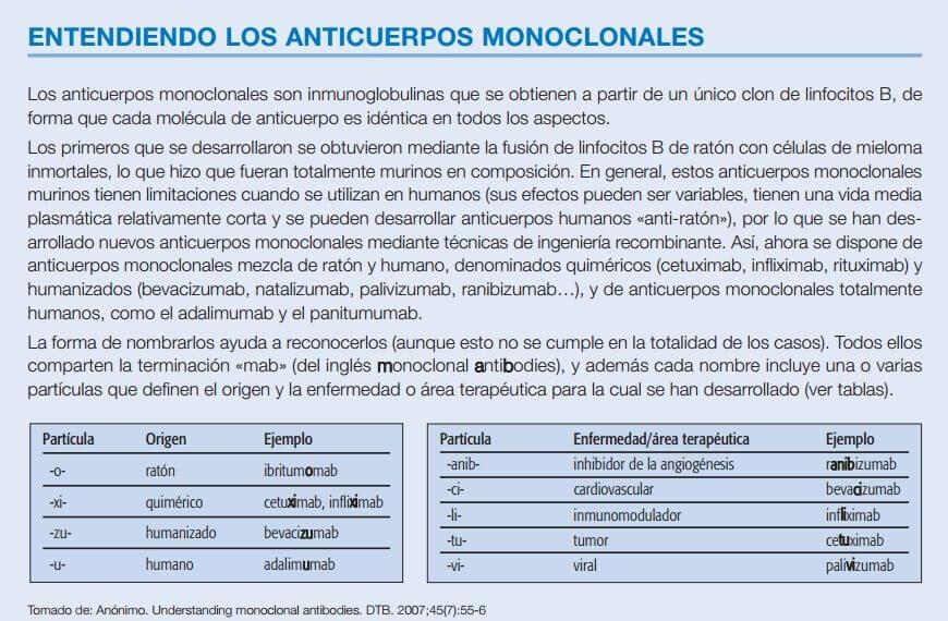 Qué son los anticuerpos Monoclonales