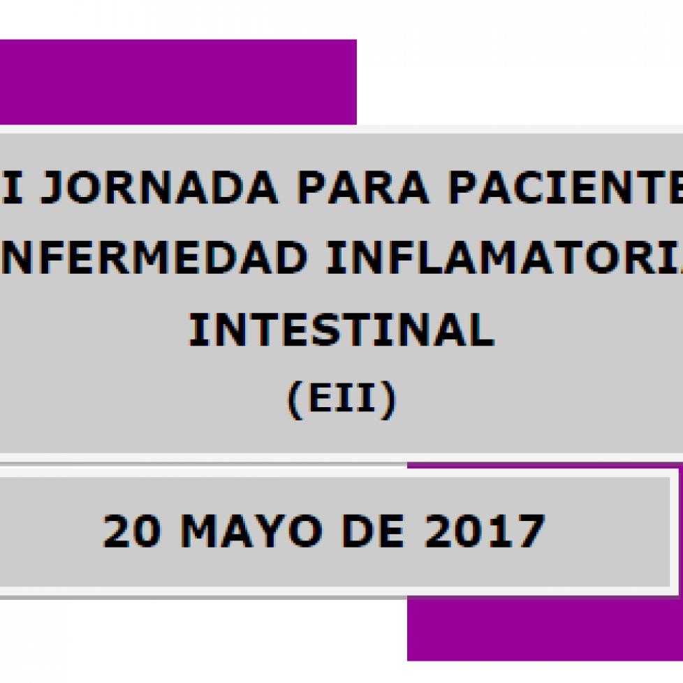 Portada de Jornada para pacientes con EII 2017